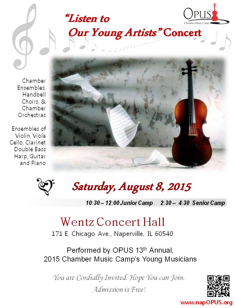 2015 OPUS Listen to Our Young Artists Concert Poster